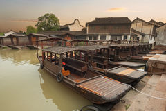 Water town of Wuzhen in Zhejiang province Stock Photos