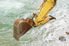 Water Trackhoe Stock Photo