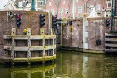 Water traffic light close-up photo Royalty Free Stock Image