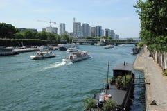 Water traffic in Paris Royalty Free Stock Photos