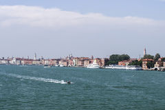 Water traffic in summer Venice Royalty Free Stock Photos