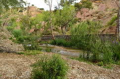 Water Trail Chelva river Stock Photos