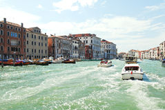 Water transport in Grand Canal, Venice Stock Images
