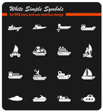 Water transport icon set Stock Photo