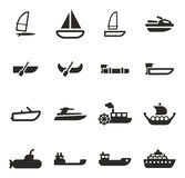 Water Transport Icons Royalty Free Stock Photo