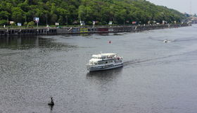 Water transport on the river Stock Images