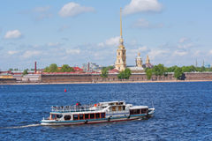 Water transport in Saint Petersburg Stock Images