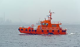 Water Transportation, Pilot Boat, Watercraft, Boat royalty free stock image