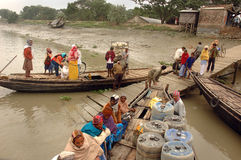 Water transportation of West Bengal-India Stock Photography
