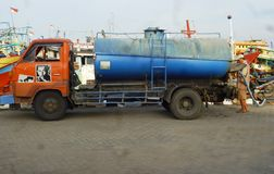 Water transporting lorry car Royalty Free Stock Photography