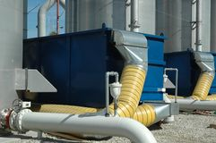 Water Treatment. Plant filtration system Royalty Free Stock Image
