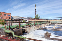 Water treatment factory Stock Photography