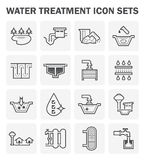 Water treatment icon Royalty Free Stock Images