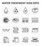 Water treatment icon Royalty Free Stock Image