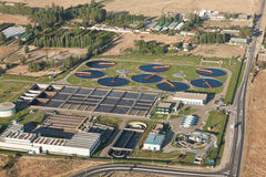 Water treatment plant royalty free stock images