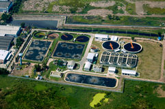 Water treatment plant. In industrial estate Royalty Free Stock Photography