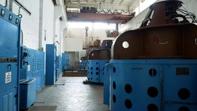 Water treatment plant. Pump with a capacity of 7000 m3 of water per hour. Treatment facilities for the preparation of