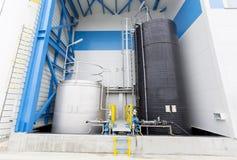 Water treatment plant. Rainwater treatment plant (RWTP). Environmentally friendly smelter Royalty Free Stock Photos