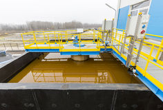 Water treatment plant. Rainwater treatment plant (RWTP). Environmentally friendly smelter Royalty Free Stock Photography