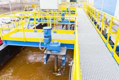 Water treatment plant. Rainwater treatment plant (RWTP). Environmentally friendly smelter stock images