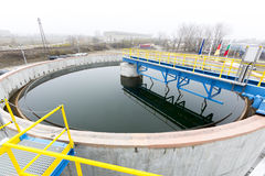Water treatment plant. Rainwater treatment plant (RWTP). Environmentally friendly smelter Stock Photography