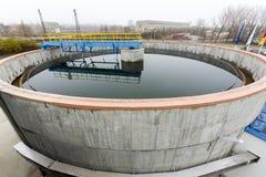 Water treatment plant. Rainwater treatment plant (RWTP). Environmentally friendly smelter royalty free stock image