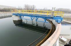 Water treatment plant. Rainwater treatment plant (RWTP). Environmentally friendly smelter Stock Image