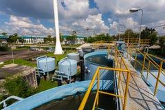 Water Treatment Plant. Rainwater treatment plant (RWTP). Environmentally friendly smelter Stock Photos