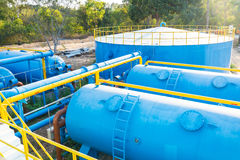 Water treatment plants Stock Photo