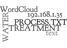 Water Treatment Processword Cloud. WATER TREATMENT PROCESS TEXT WORD CLOUD CONCEPT Royalty Free Stock Photography