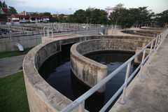 Water treatment system of the Waterworks Royalty Free Stock Photos