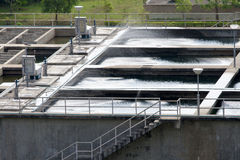 Water treatment tank Stock Image