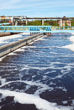 Water treatment tank with wastewater Royalty Free Stock Image