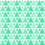 Water triangles balls seamless texture. Seamless abstract aqua green triangular shapes with balls background. Abstract geometric texture pattern Royalty Free Stock Photos