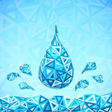 Water triangular drops ecology abstract concept Royalty Free Stock Photography