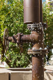 Water Trickling out from City Pipe Stock Photos