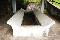 Water Trough in Ligosullo 1 Royalty Free Stock Photos