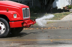 Water truck cleaning street Royalty Free Stock Photography