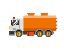 Water truck. liquid truck delivery. Royalty Free Stock Images