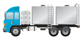 Water truck with water cubic trunk vector design. Stock Photos