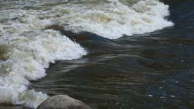Truckee River in Reno Nevada. Water on Truckee river in Reno, Nevada stock footage