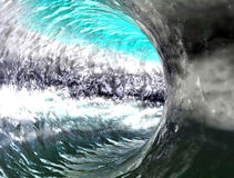 Water tunnel. Surf wave concept Stock Photography