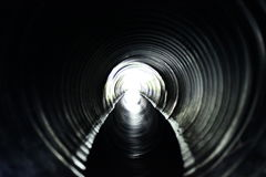 Water in a tunnel Stock Image