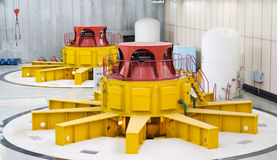 Water turbine generators Royalty Free Stock Photos