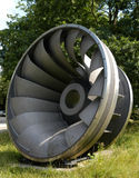 Water turbine II. Part of a water turbine Stock Photo