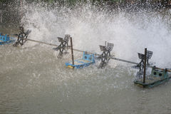 Water turbine on water pool Stock Photos