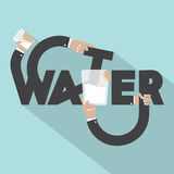 Water Typography Design. Royalty Free Stock Photo