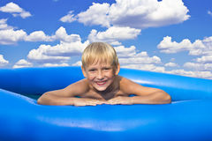 Water under the blue sky of joy Stock Photos