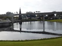 Water under the bridge. A great florida shot stock photography