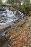 Water Under the Bridge. Little High Falls in fall, tucked away in Bracebridge stock photos